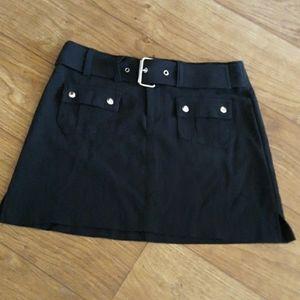 Y2K Goth Buckle Mini Skirt